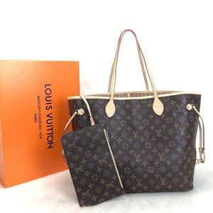 %100 Genuine Leather  Louis Vuitton Neverfull GM